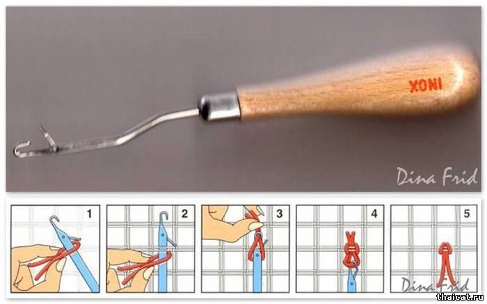 Как сделать крючки из ниток