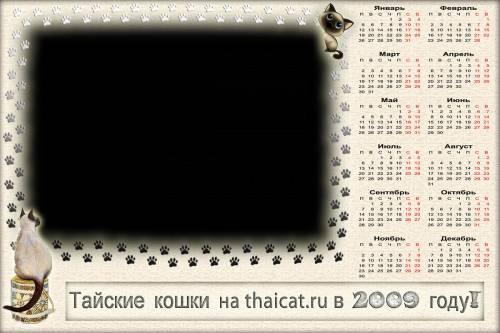 фото рамка календарь тайские кошки