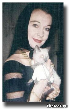Вивьен Ли и ее сиамские кошки