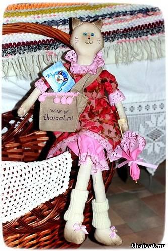 Тайская кошка кукла-тильда Софи