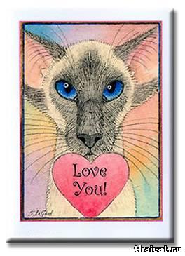 Открытки с кошками на День Валентина от Сюзанн Ле Гуд