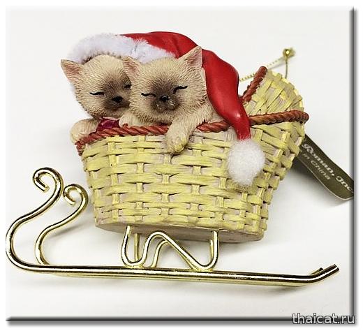 Елочные игрушки. Сиамские и тайские кошки