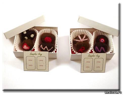 Вкусные игрушки для кошек