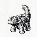 Керамическая фигурка кошки, сделанная в бронзовом веке