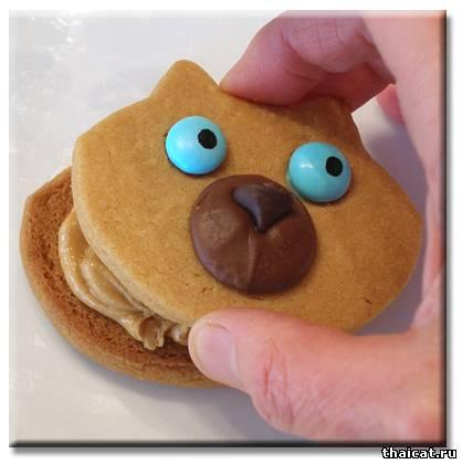 Печенье Сиамские Мордочки