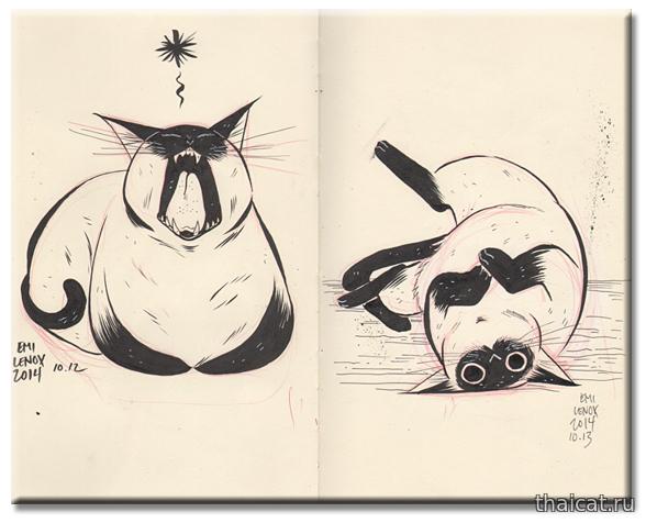 Эми Ленокс и кошки