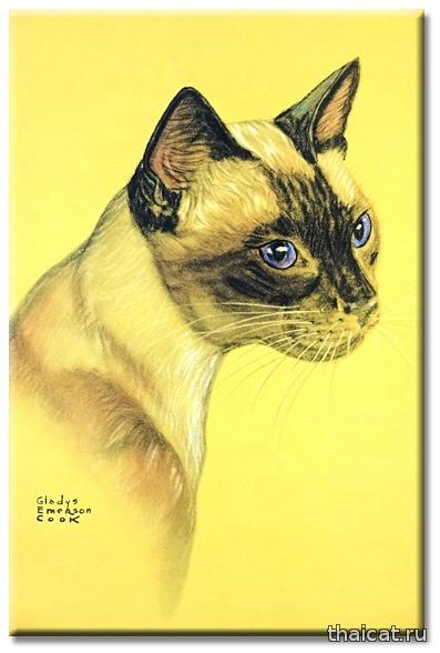 Гледис Эмерсон Кук. Сиамская кошка.