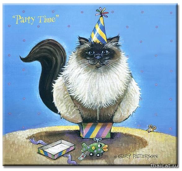Гарри Паттерсон: веселые рисунки сиамских кошек