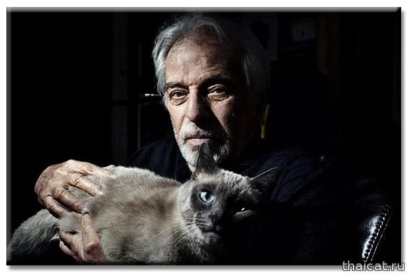 Алехандро Ходоровски и сиамская кошка