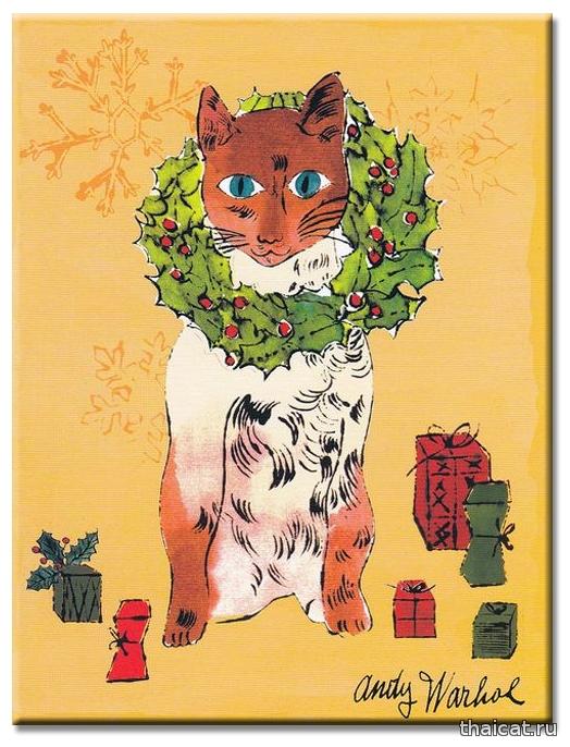Энди Уорхол. Рождественская кошка