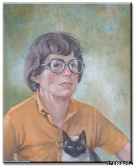 Сара Сью Пеннелл и ее сиамские кошки