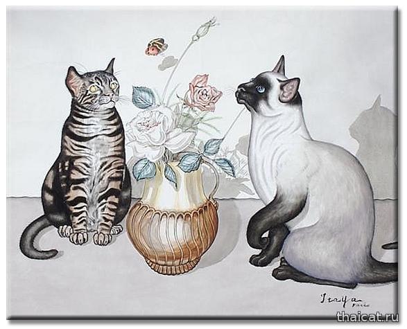 Фусса Итайя. Спокойная жизнь с беспокойными кошками / Foussa Itaya. Still Life with Moving Cats